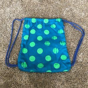 NIKE Drawstring Polka Dot Bag